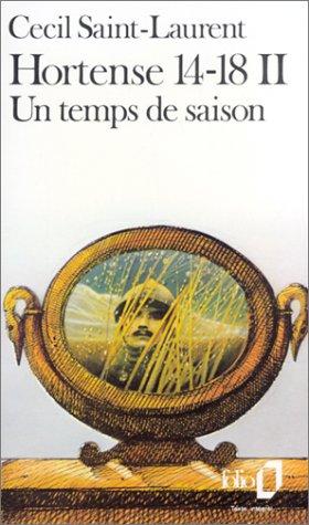 9782070372874: Hortense 14 18 (Folio) (French Edition)
