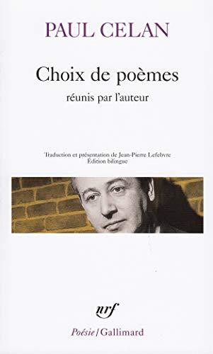 Choix de poèmes (Poésie): Paul Celan