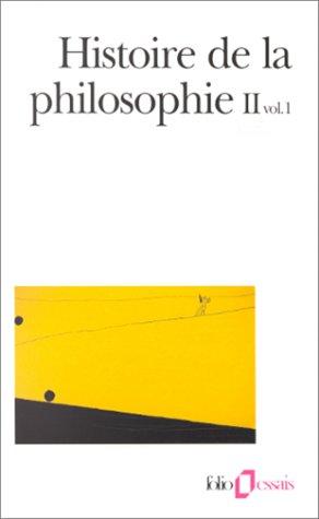 9782070407798: Histoire de la philosophie, tome 2, volume 1
