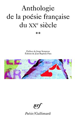 9782070413027: Antho de La Poe Fr 20e (Poesie/Gallimard) (French Edition)