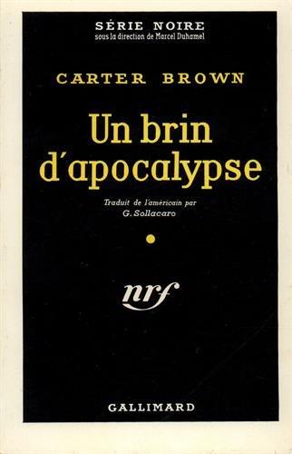 9782070475193: Un brin d'apocalypse