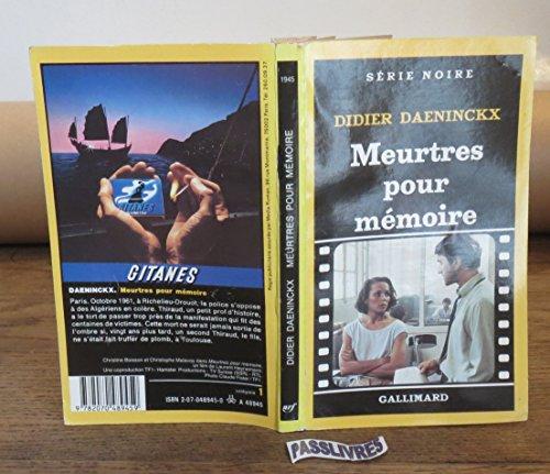 9782070489459: Meurtres pour Mémoire