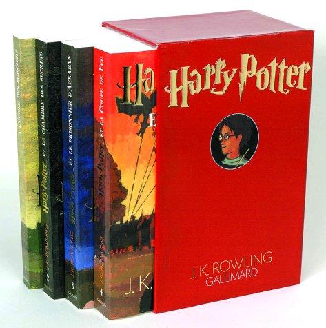 9782070545193: Harry Potter : Coffret en 4 volumes : Tome 1, Harry Potter à l'école des sorciers ; Tome 2, Harry Potter et la Chambre des Secrets ; Tome 3, Harry ... et la Coupe de Feu (Hors-Série Littérature)