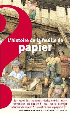 9782070558520: L'histoire de la feuille de papier