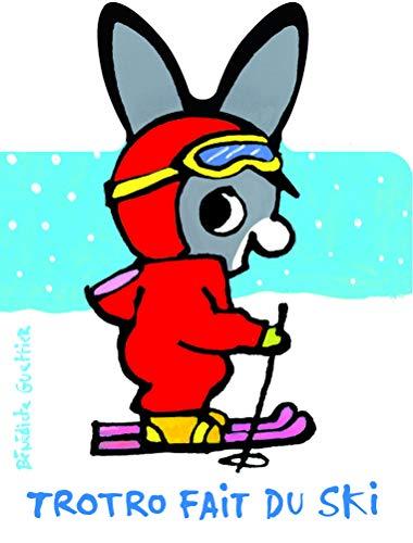 9782070657513: Trotro fait du ski (L'�ne Trotro, livres carton - Giboul�es)