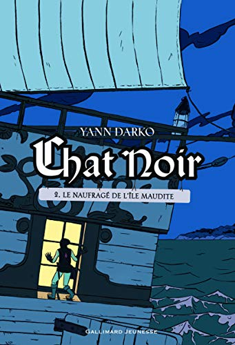 9782070665754: Chat noir (Tome 2-Le naufragé de l'île maudite) (Grand format littérature - Romans Junior)