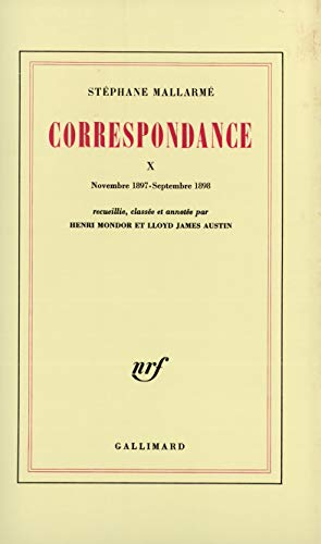 Correspondance t10 (French Edition): Stephane; Mondor, Henri end Austin, Lloyd James (eds.) ...