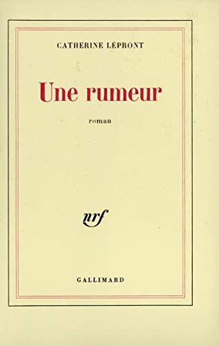 9782070702145: Une rumeur: Roman (French Edition)