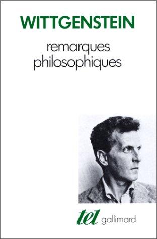 9782070702268: Remarques philosophiques (Tel)