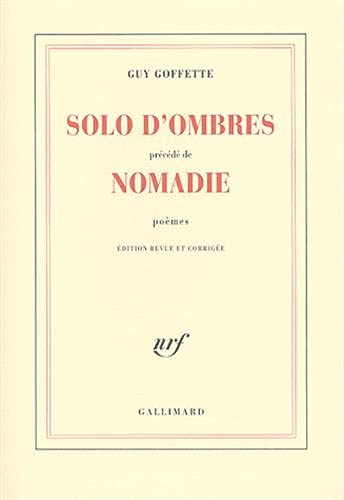 9782070702893: Solo d'ombres/Nomadie (Blanche) (French Edition)