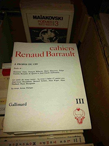 Cahiers Renaud Barrault III - A propos: François Billacois, Marie