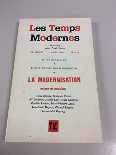 Les temps modernes 476 (mars 1986): n/a