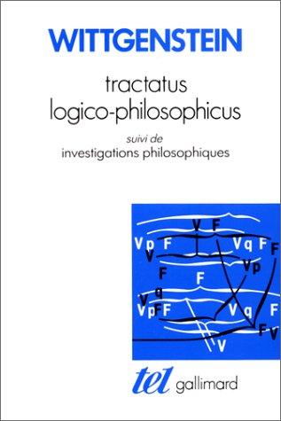 9782070707737: Tractacus logico-philosophicus suivi de