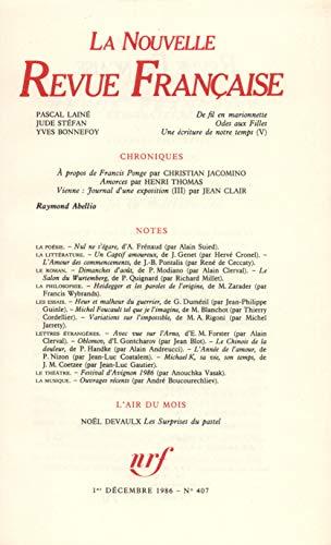 9782070708598: La Nouvelle Revue Française