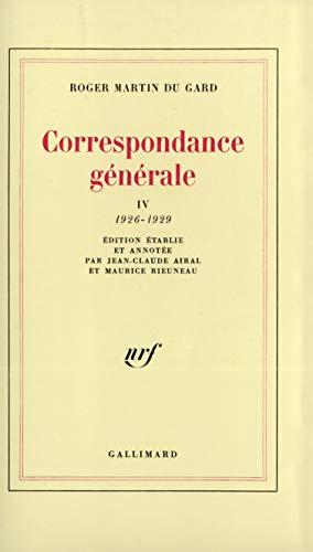 Correspondance generale (French Edition): Martin Du Gard, Roger