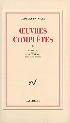 9782070711451: Oeuvres complètes, tome 10