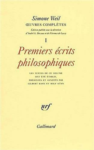 OEuvres completes (French Edition): Weil, Simone