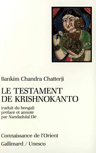 Le testament de krishnokanto (French Edition): BANKIM CHANDRA CHATTERJI