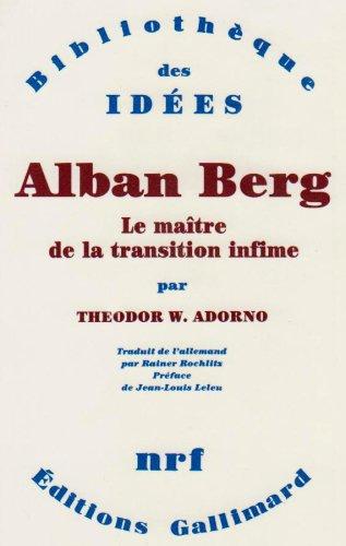9782070715275: Alban Berg