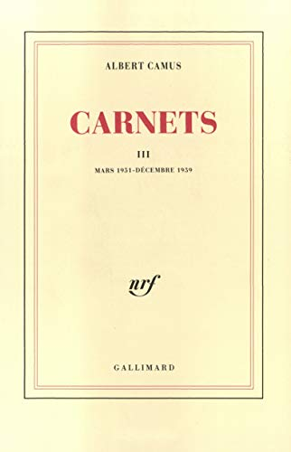 9782070715862: Carnets, tome 3 (French Edition)