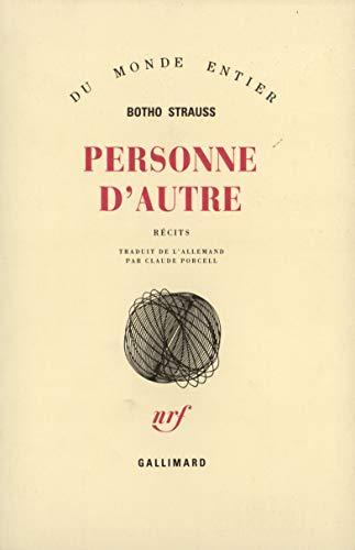 9782070717132: Personne d'autre (French Edition)
