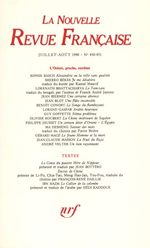 9782070718740: La Nouvelle Revue Française