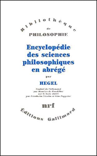 9782070719150: Encyclopédie des sciences philosophiques en abrégé, 1830