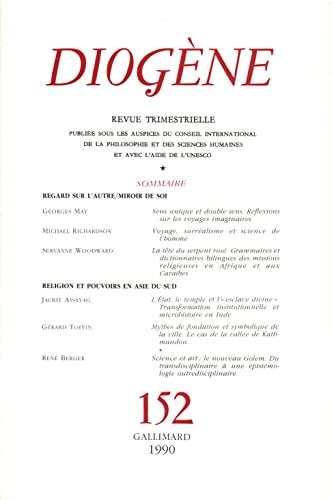 9782070720453: Diogène, numéro 152
