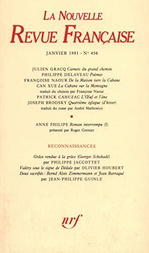 9782070721894: La N.R.F. numéro 456, janvier 1991