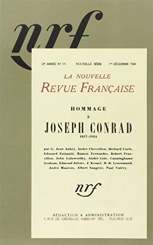 Nouvelle revue française Hommage à Joseph Conrad: Nouvelle Revue Française