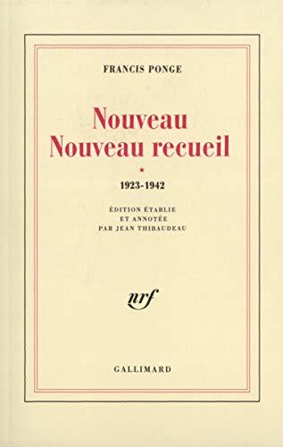 9782070722860: Nouveau Nouveau Recueil (Tome 1-1923-1942)