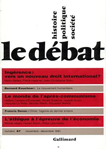 Le débat numéro 67 novembre-décembre 1991 -: Mario Bettati, Pierre