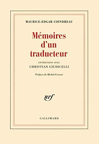 9782070726875: Mémoires d'un traducteur: Entretiens avec Christian Giudicelli