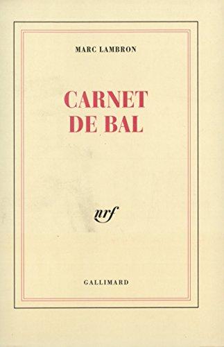 9782070727865: Carnet de bal