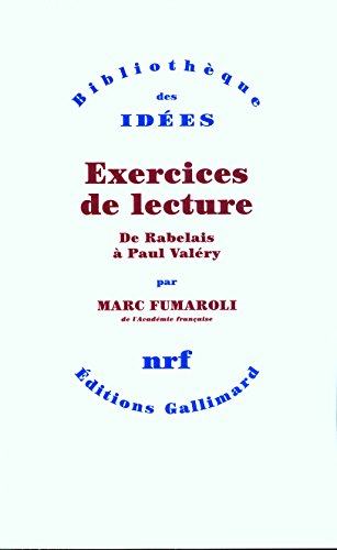 9782070729852: Exercices de lecture (French Edition)