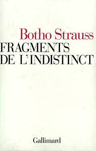 9782070731329: Fragments de l'indistinct (French Edition)
