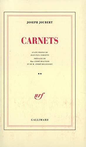 Carnets: Joubert, J.