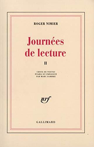 9782070733842: Journées de lecture (Tome 2-1951-1962) (Blanche)