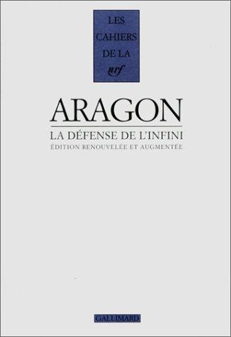 9782070733972: La défense de l'infini: Romans (Les cahiers de la NRF) (French Edition)