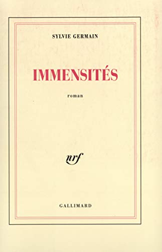 9782070736430: Immensités: Roman (French Edition)