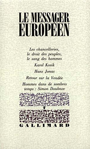 Le messager europeen n.7: Collectif