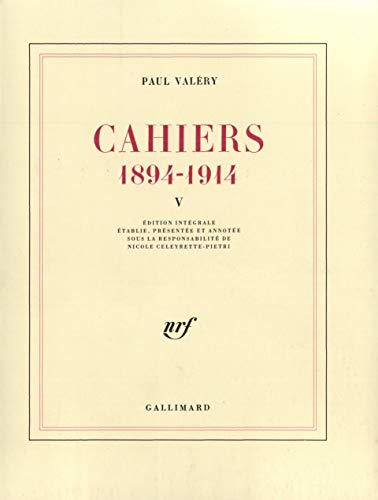 9782070737734: Cahiers (Tome 5-1902-1903): (1894-1914) (Blanche)
