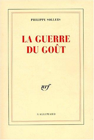 9782070739028: La Guerre du go�t