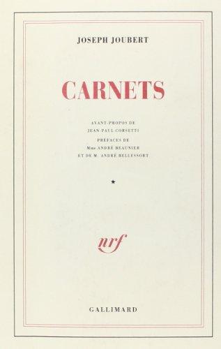 Carnets I et II 94 2v: Joubert J