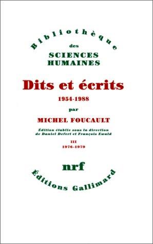 9782070739882: Dits et Ecrits, 1954-1988. Tome III : 1976-1979