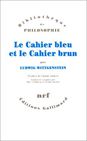 9782070740185: Le Cahier bleu et le Cahier brun