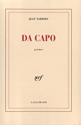 9782070741427: Da capo: Poèmes (French Edition)