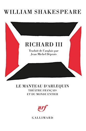 9782070742226: Richard III (Le manteau d'Arlequin)