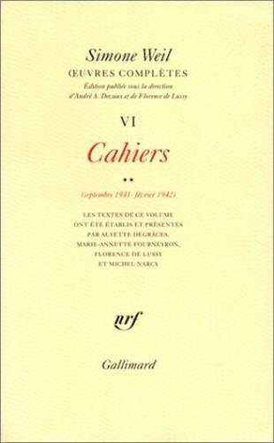 9782070747313: OEuvres complètes (Tome 6 Volume 2)-Cahiers (Septembre 1941 - février 1942))
