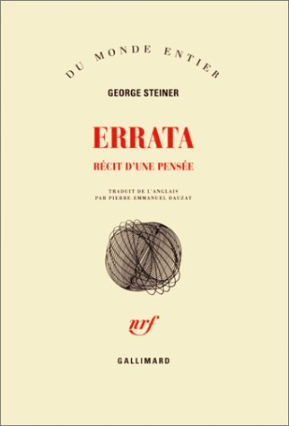 9782070750665: Errata(recits d'une pensee) (French Edition)
